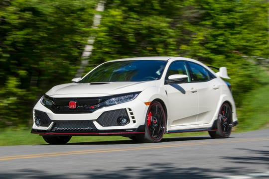 The Type R hatchback has a turbocharged engine that produces 306 horsepower, a six-speed manual transmission, a sport-tuned suspension with adaptive shock absorbers, stronger brakes and more supportive front seats.