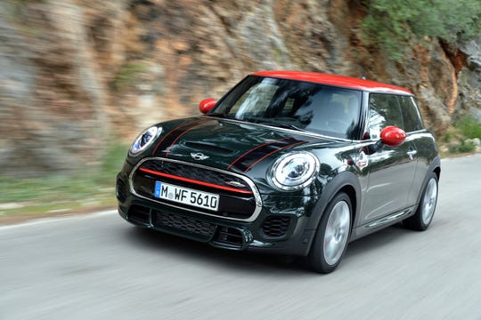 The 2018 Mini Hardtop John Cooper Works. Thanks to its petite size, pug nose and boxy profile, the Mini Hardtop is one of the most easily identifiable cars on the road.