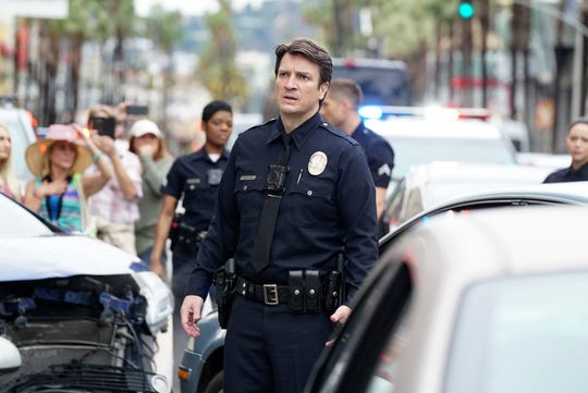 Nathan Fillion plays a 40-year-old Los Angeles Police Department newbie officer in ABC's 'The Rookie.'