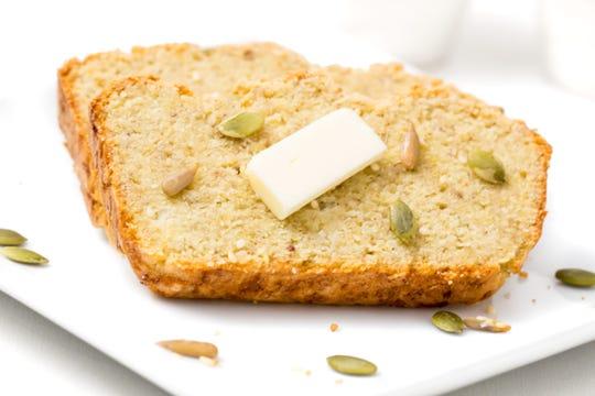 Keto bread made with cauliflower.