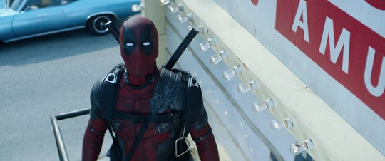 """pa0364_comp_v3014.1021 –  Ryan Reynolds returns as Deadpool in """"Deadpool 2. It is out on DVD Tuesday."""