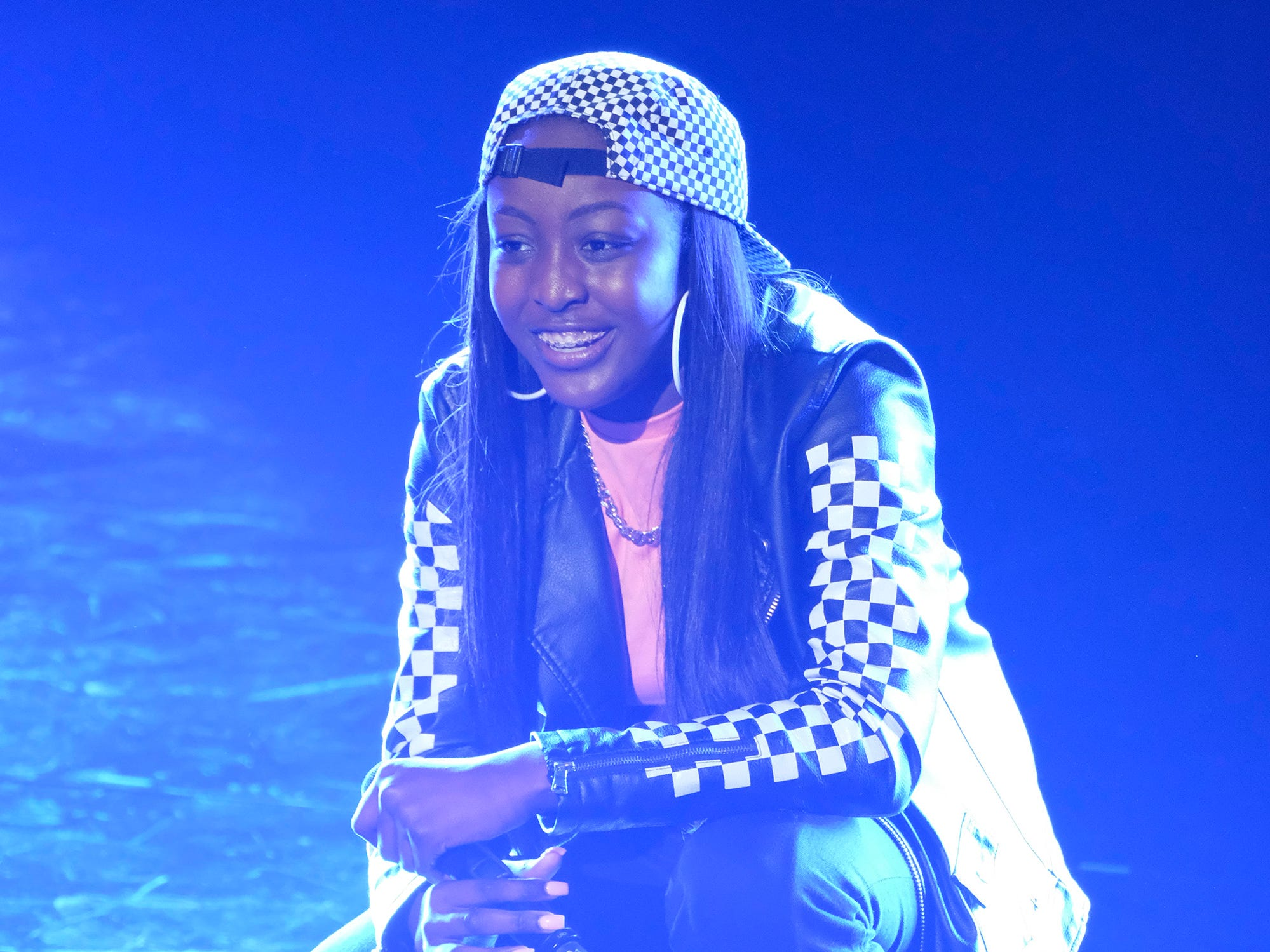 Rapper Flau'jae who earned guest judge Chris Hardwick's Golden Buzzer