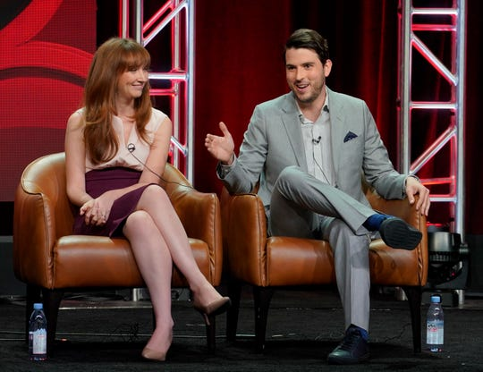 'This Is Us' executive producers Elizabeth Berger, left, and Isaac Aptaker talked about Season 3 at the Television Critics Association summer press tour Wednesday.