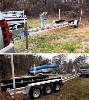 This boat trailer was stolen at Portman Marina