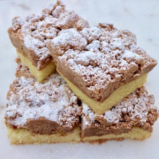 Nut-free crumb cake from Liv Nut Free, which will open this fall in Shrewsbury.