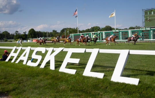 2018 Haskell Day at Monmouth Park in Oceanport, NJ, on July 29, 2018.