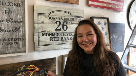Sonya Cashner, owner of Board & Brush, which recently opened at 26 Monmouth Street in Red Bank.