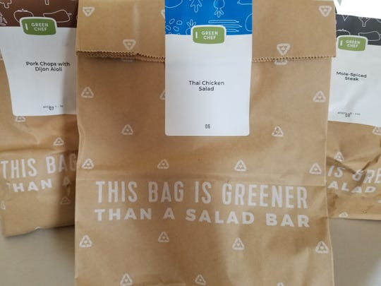 Green Chef arrives in individual bags to make mealtime easier.