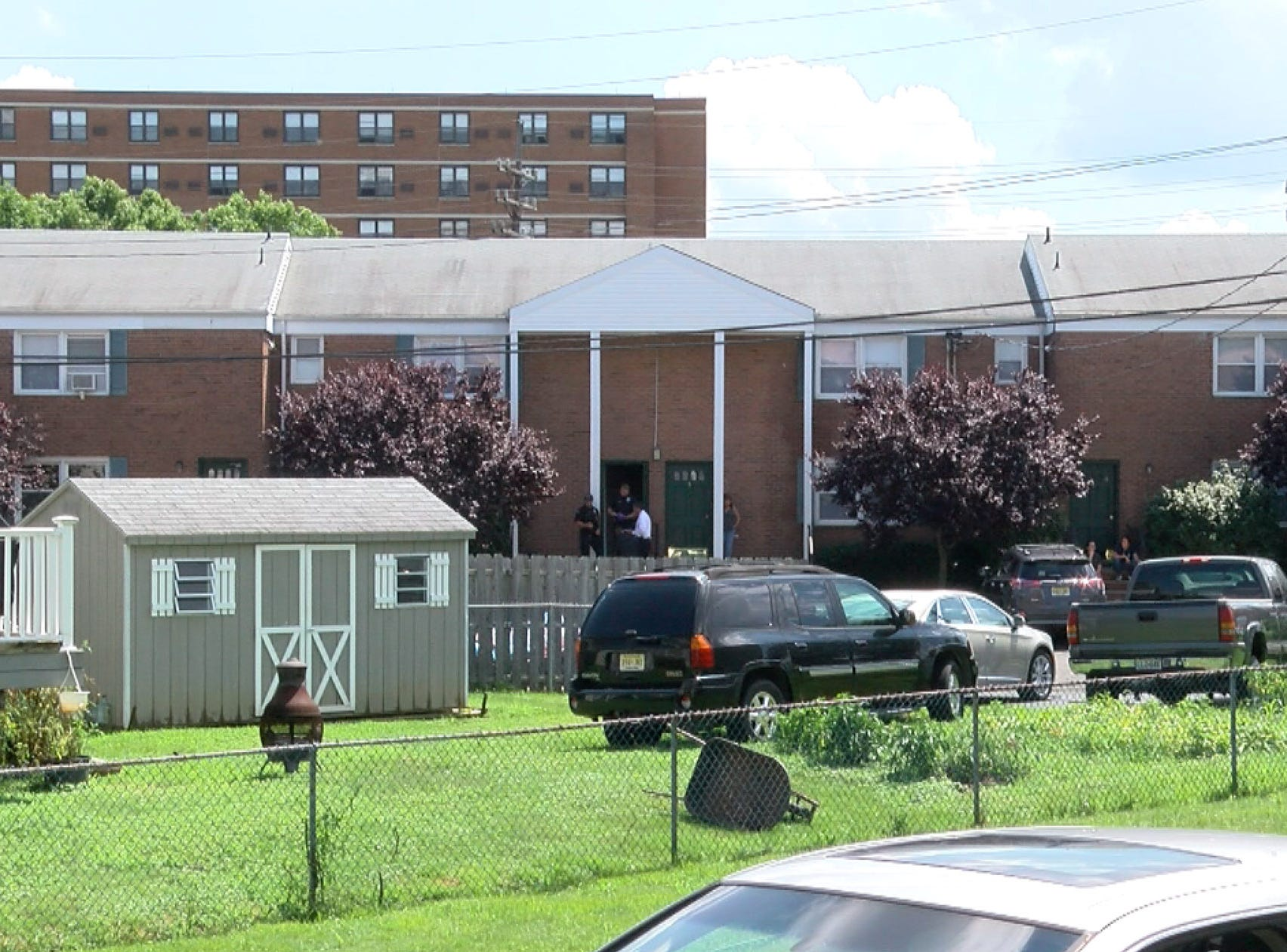 The scene of a reported shooting Thursday afternoon, August 9, 2018, at an apartment building on Center Street in Keyport.