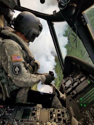 The Washington National Guard has dumped more than 130,000 gallons of water to suppress fires in Washington since the start of the wildfire season this year. The National Guard is assisting in the Maple Fire that is burning in the Olympic Mountains.