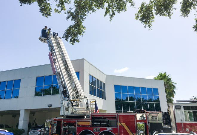 A Viera credit union was evacuated after a smoke problem in the building.