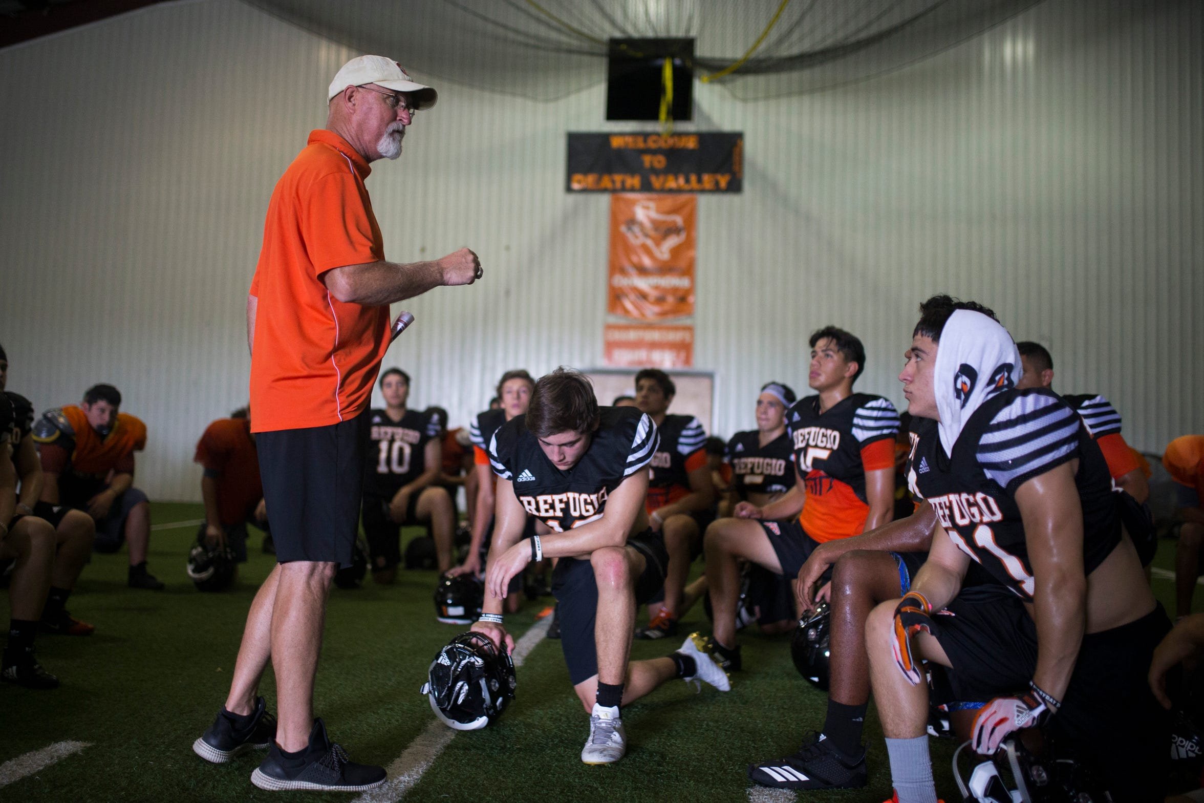 "Refugio coach Jason Herring said ""I always want to make a playoff game a treat for our kids at a nice stadium with turf in case of bad weather. Most bigger schools have nicer facilities."""