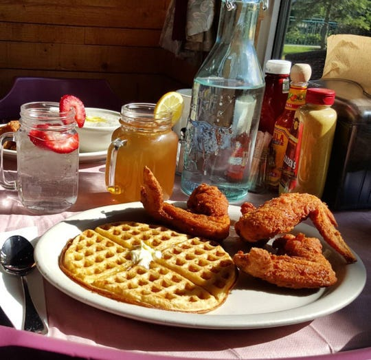 All waffles are not equal at 4 Brothers in Warren: Choose from the Washington Rock classic, a red velvet waffle served with one chicken leg and wing; the Warrenville classic with a chocolate waffle alongside one chicken leg, wing and thigh; or the Mt. Bethel classic, which is a carrot cake waffle and one chicken leg and thigh, to name a few.