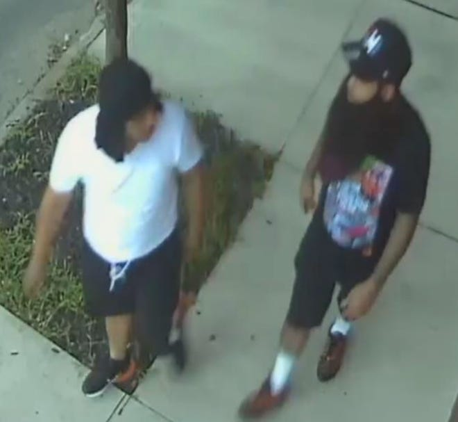 Police are seeking these men in connection with Tuesday's ambush-style attack on two Camden County Police detectives.