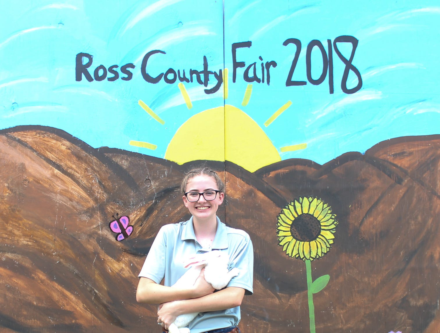 2018 Jr. Fair Guinea Pig and Rabbit  judging. Stephanie Hirsch, Born Country, 15.