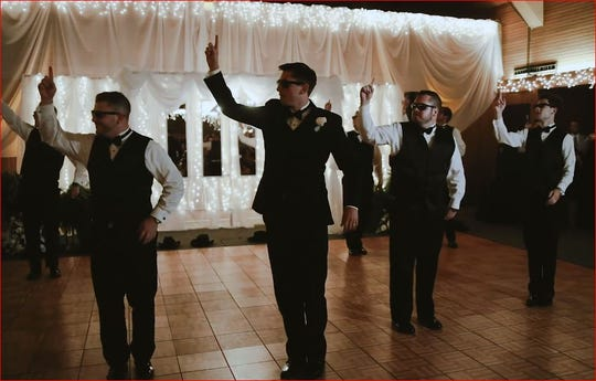 A wedding video of NKY native Joey Frederick leading his groomsmen in a dance compilation of the Backstreet Boys and Taylor Swift has gone viral.