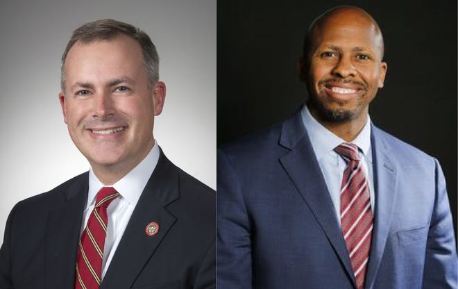 Robert Sprague and Rob Richardson, candidates for Ohio Treasurer