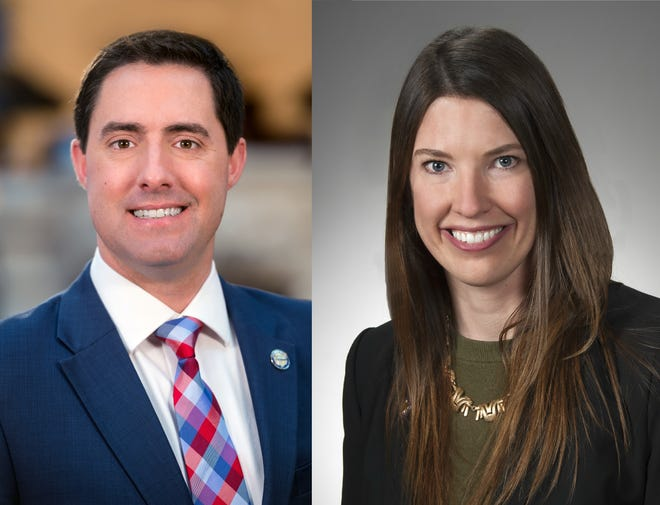 Frank LaRose and Kathleen Clyde are candidates for Ohio Secretary of State