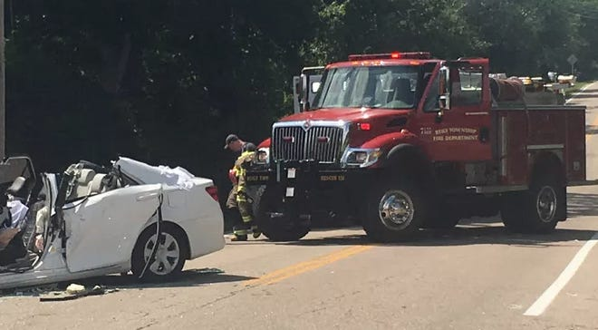 A teen driver died in a crash with a vehicle from the Butler County Engineer's Office Wednesday, Sheriff Richard Jones said.
