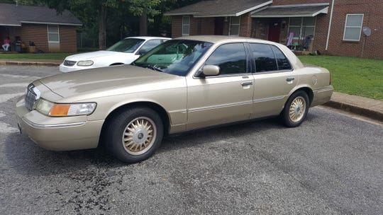 This stolen gold Mercury Marquis was found unoccupied on Maddox Court an hour after the Thursday morning robbery.