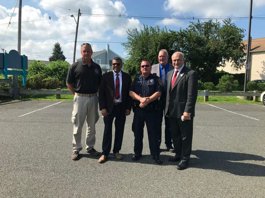 Township and county officials discussed a new traffic safety initiative put in place in the Cliffwood Beach section of Old Bridge.