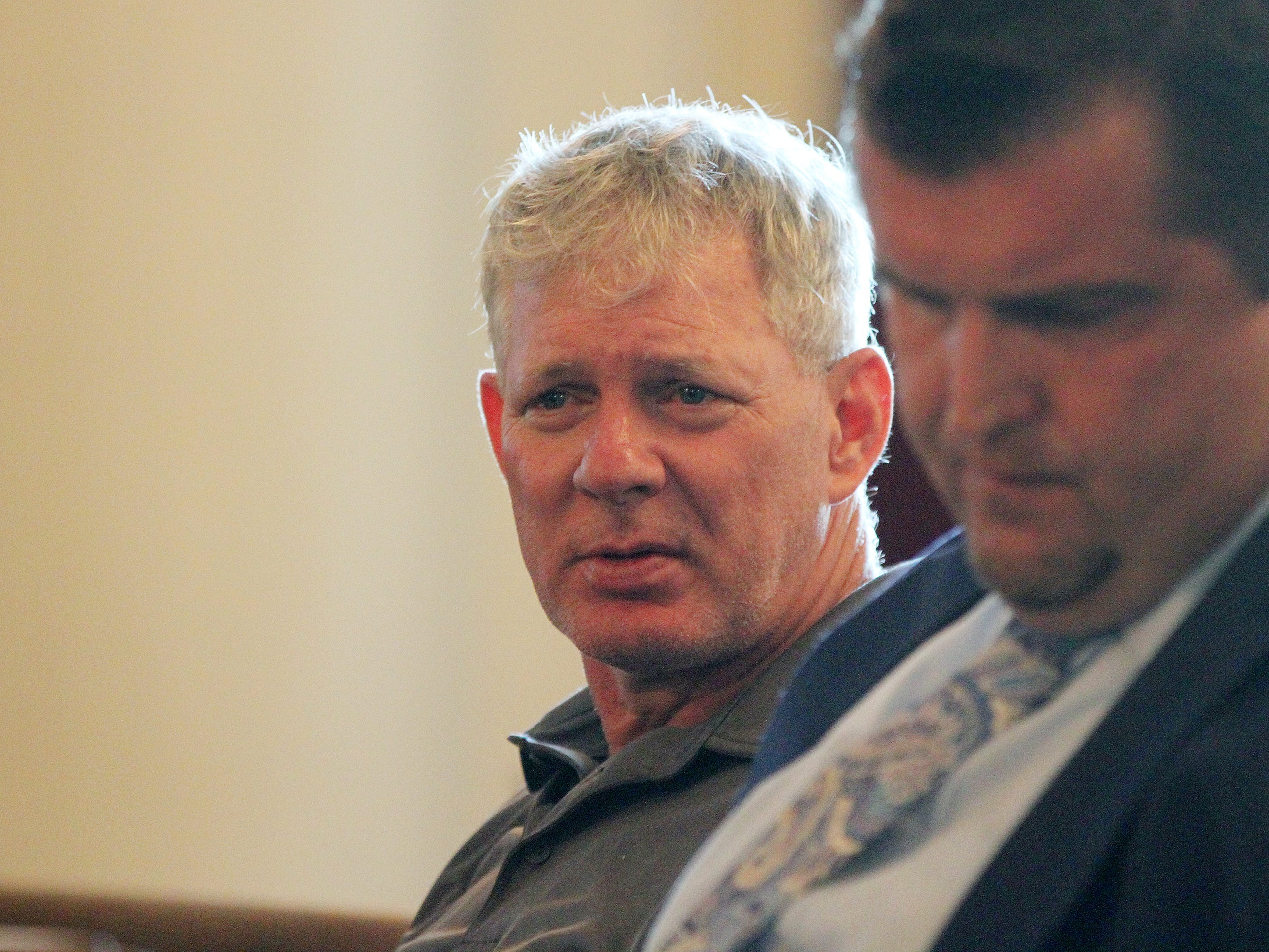 Former Major League Baseball player Lenny Dykstra, who is facing charges related to allegedly making terrorist threats against an Uber driver in Linden in May, rejects plea offer before Union County Superior Court Judge Joseph Donahue at Union County Courthouse in Elizabeth, NJ Thursday August 9, 2018. His case will go to the grand jury.