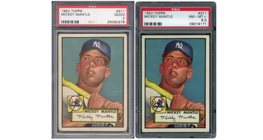 52 Topps Mantle Graded Examples