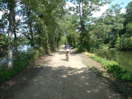 A scene from the Beaches to Farms tour run by Gotham Bicycle Tours.