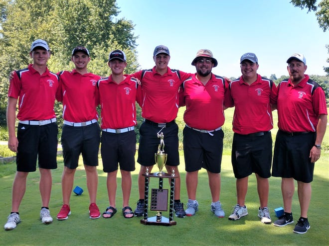 The Coshocton golf team set a school record with 287 in Thursday's Coshocton Cup at River Greens.