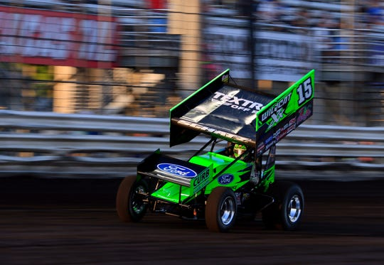 Donny Schatz gave Brad Sweet all he could handle late, but Sweet pulled off the narrow victory.