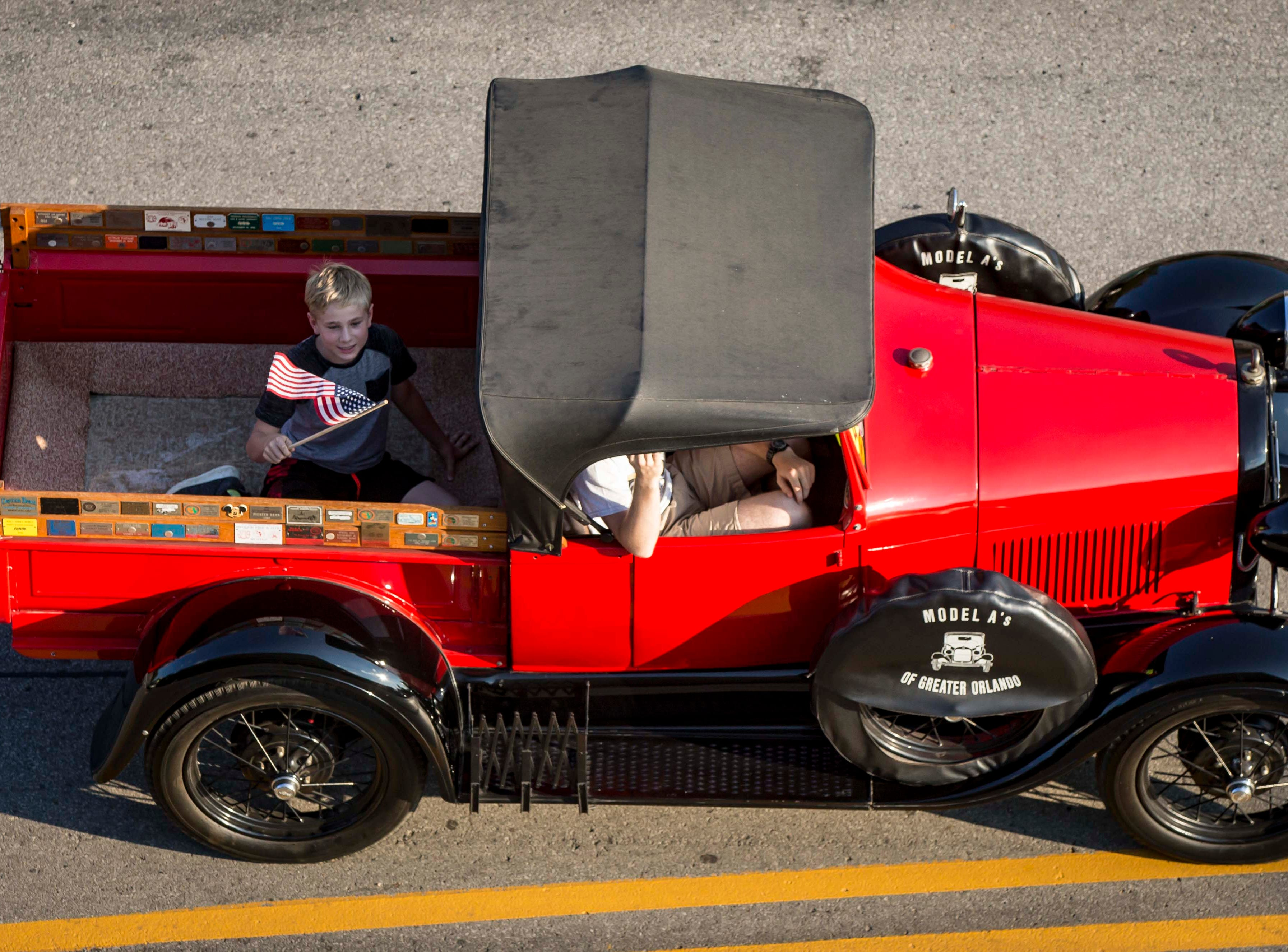 A Model A is driven during the 2018 Iowa State Fair parade from the Statehouse to downtown Des Moines Wednesday, Aug. 8, 2018. The Iowa State Fair runs from Aug. 9Ð19.