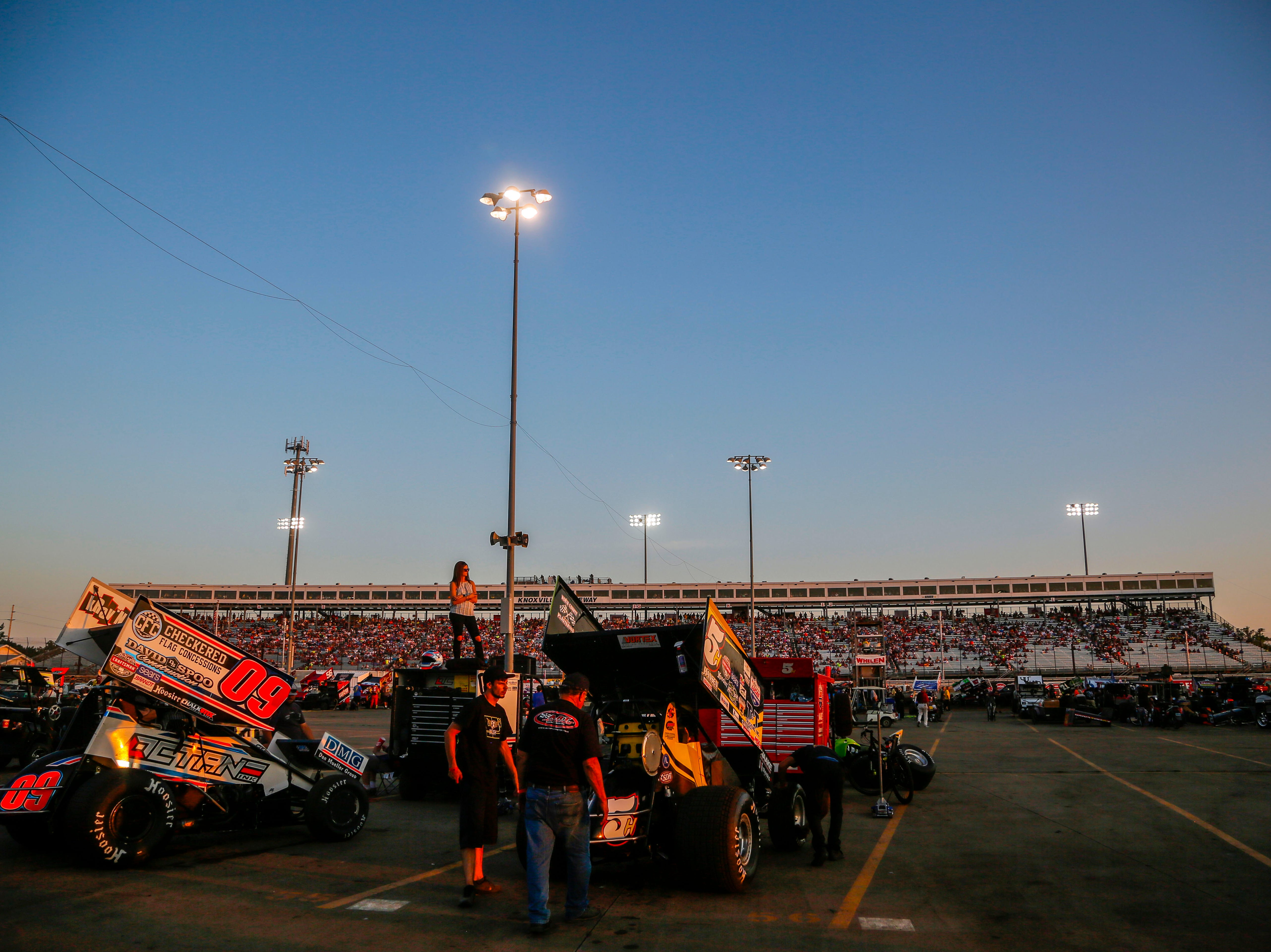 The infield during the Knoxville Nationals Wednesday, Aug. 8, 2018.