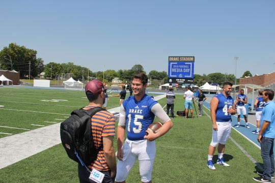 Starting quarterback Grant Kraemer returns for his senior season at Drake after throwing for 20 touchdowns in 2017.
