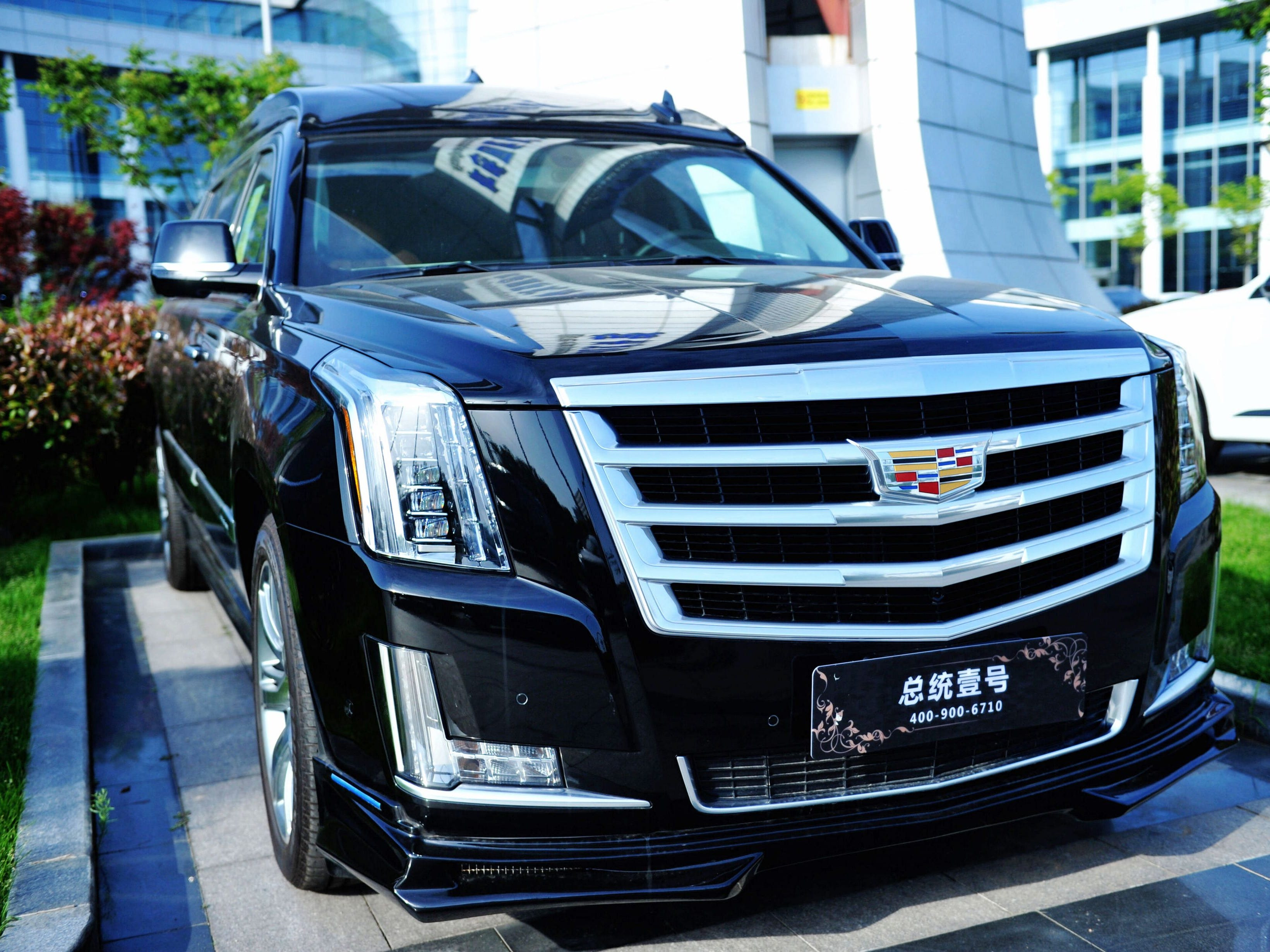 An imported Cadillac is displayed at Qingdao International Auto Mall in Qingdao in China's eastern Shandong province on May 23, 2018.