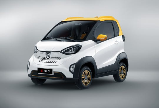 SAIC-GM-Wuling has officially launched the Baojun E100 in June 2018, an all electric vehicle with an extended driving range of 200 km.