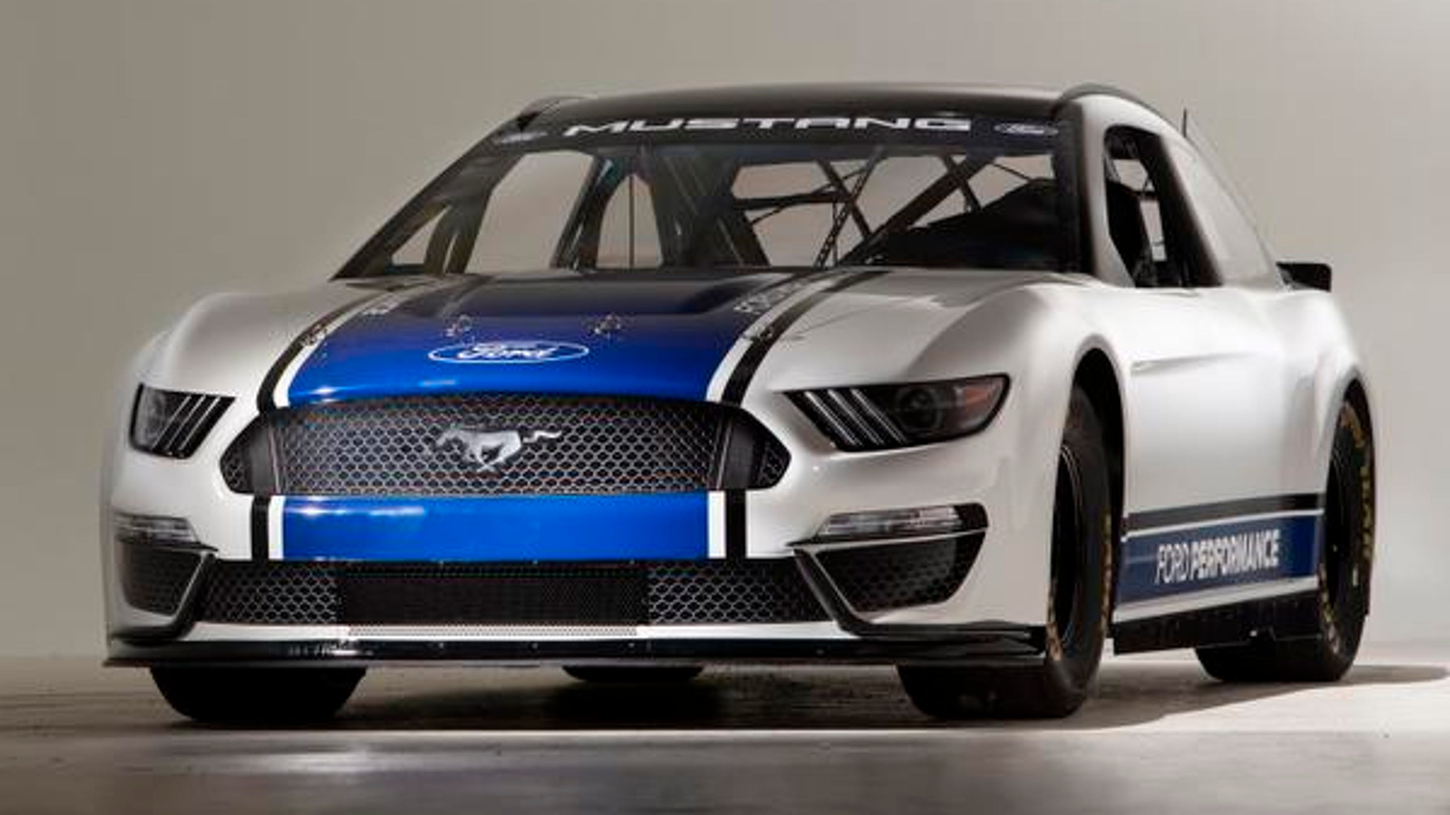 Iconic on the street mustang takes green flag for nascar