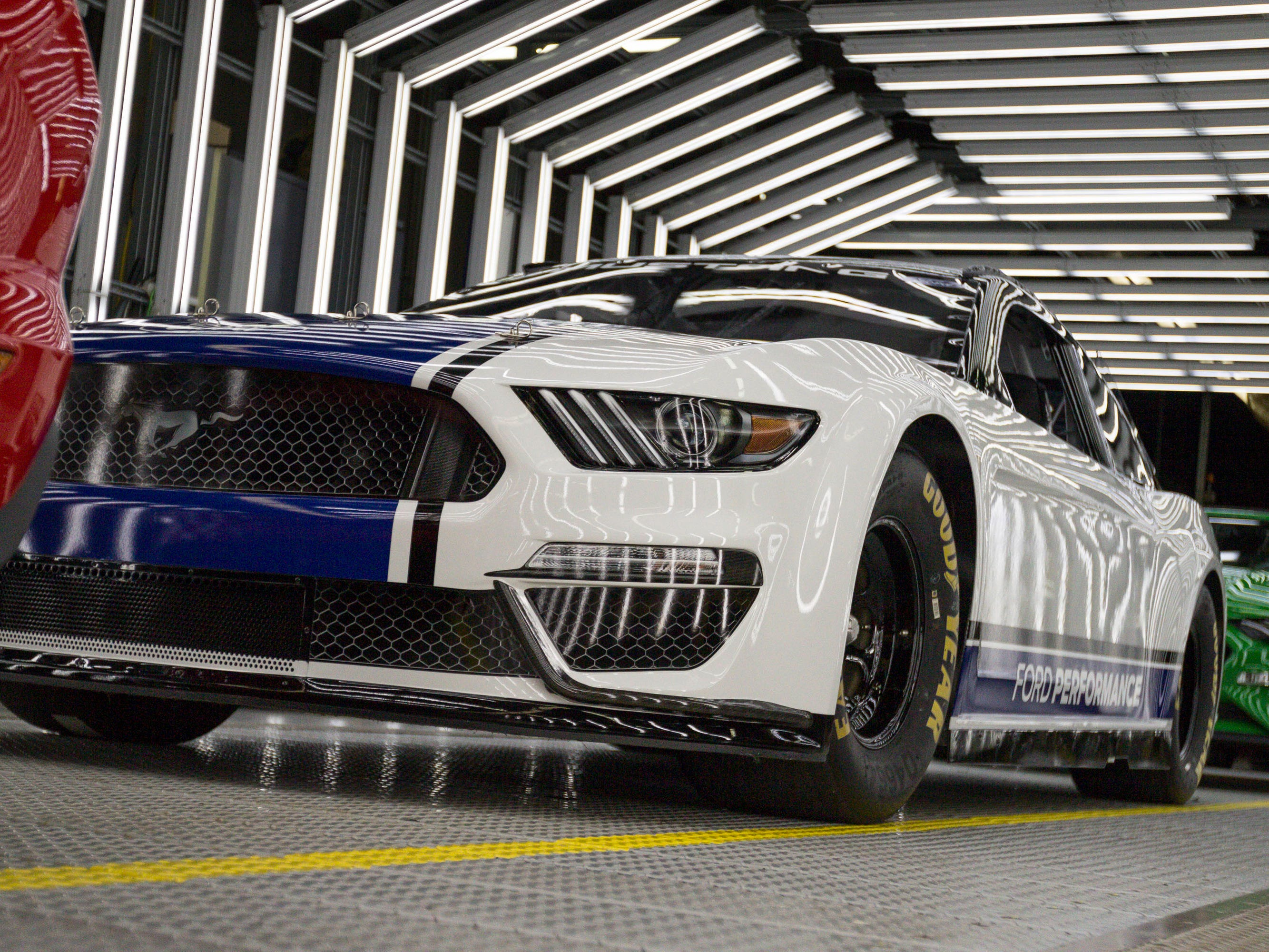 Ford Performance and Ford Design teams worked carefully to translate Mustang's signature style to meet NASCAR rules.