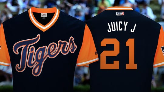 Here's the jersey Tigers outfielder JaCoby Jones will wear.