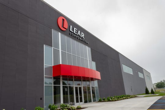 The front entrance to the new Lear Corp. plant in Flint.