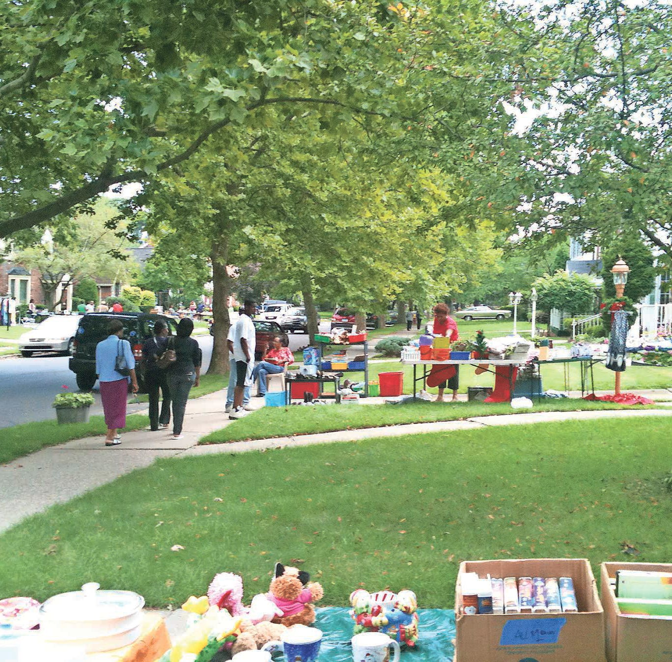 Welcome Mat: Garage sale time at East English Village