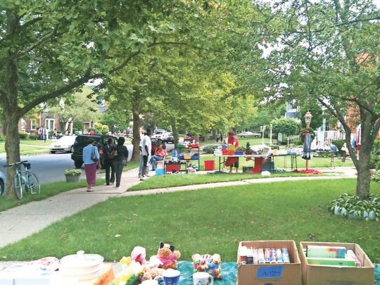 East English Village neighborhood garage sale