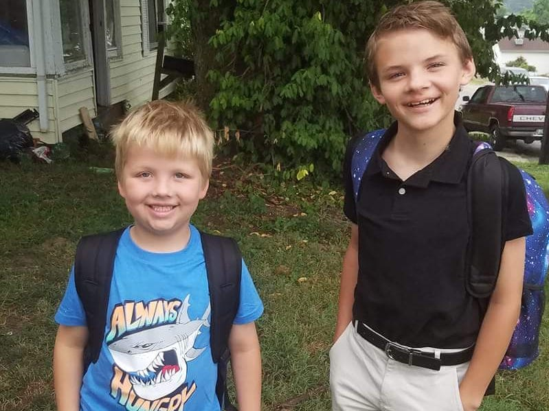 Malachi McDowell, 1st grade and Issak McDowell, 6th
