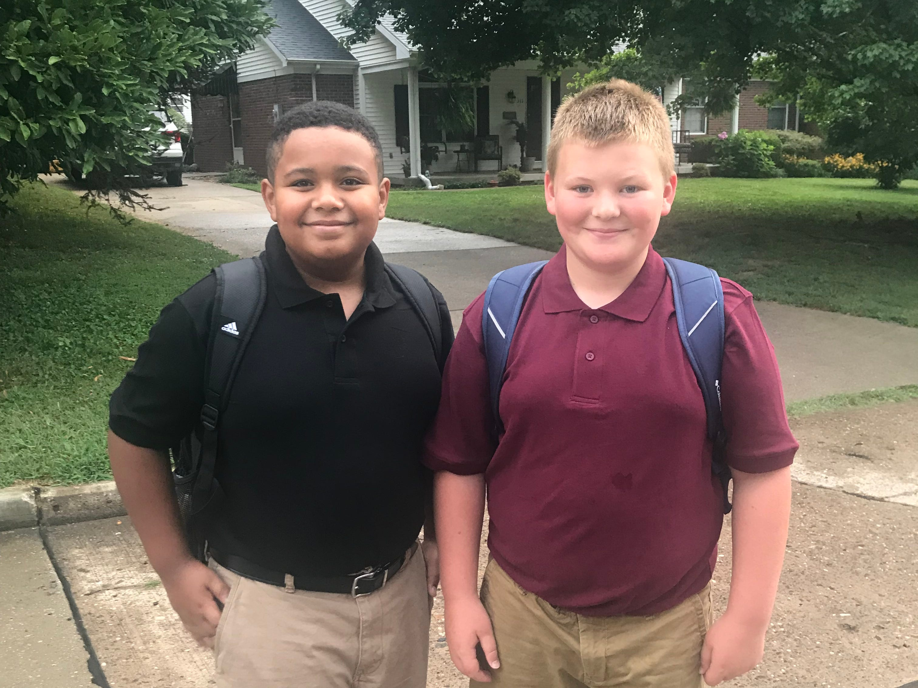 E.J. Williams and Zane Wilson, 6th grade