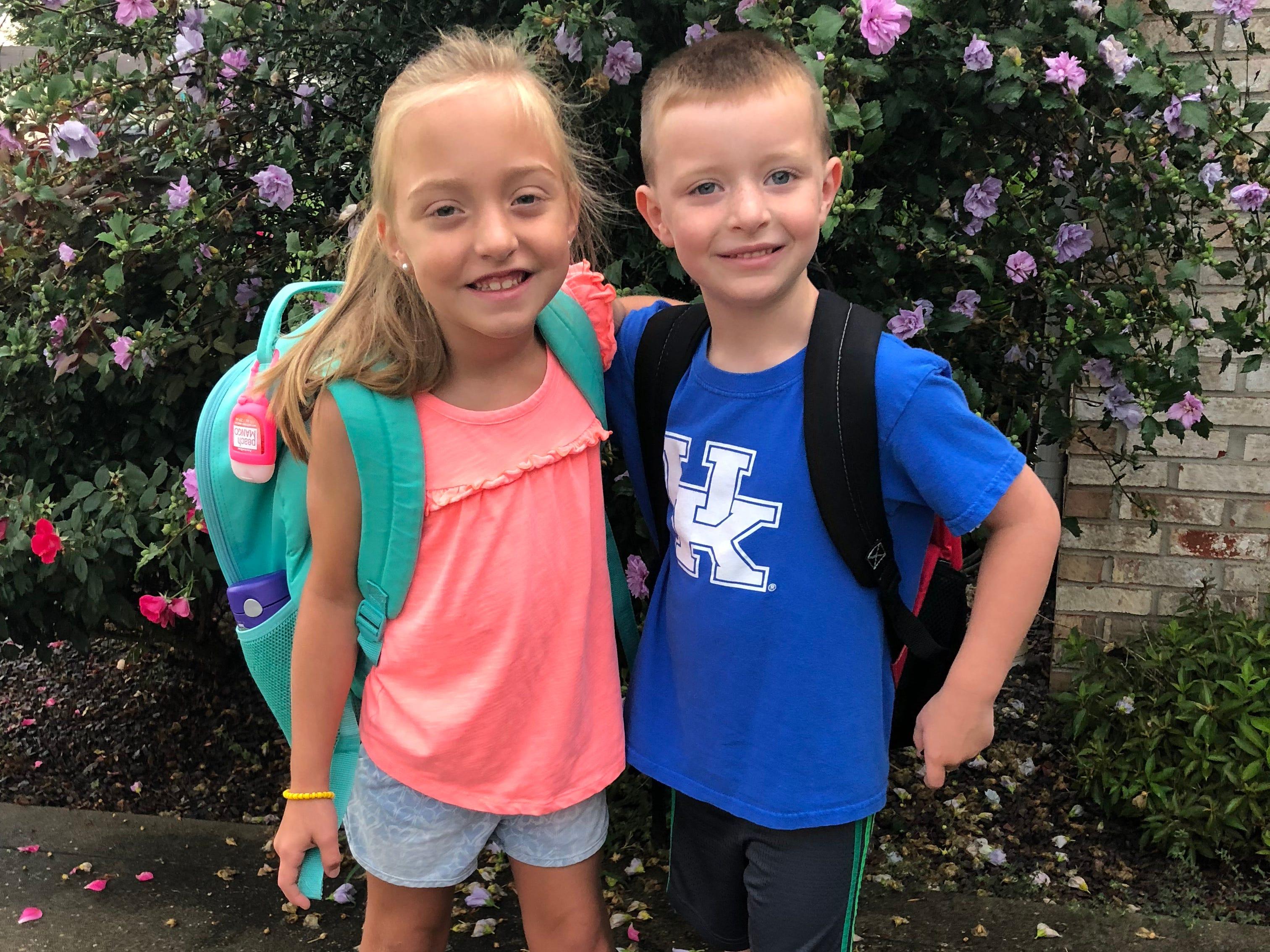 Abbi Kate Tyler, 1st grade and Hudson Tyler, kindergarten