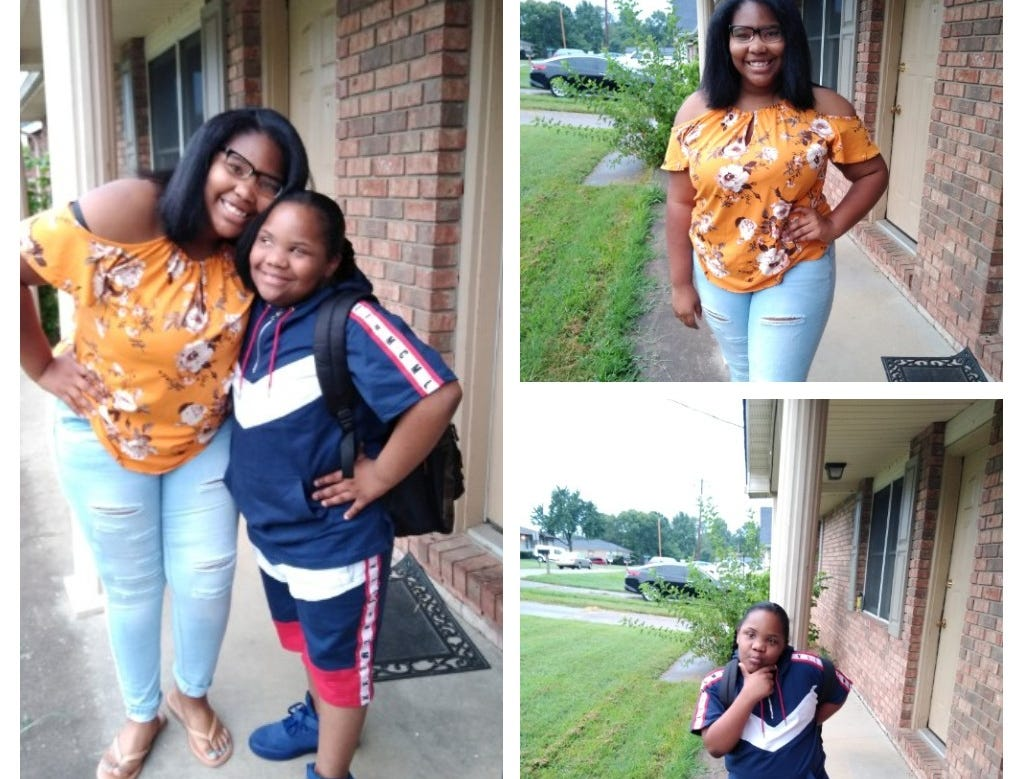 Travona Posey, 11th grade; Caron Posey, 4th grade
