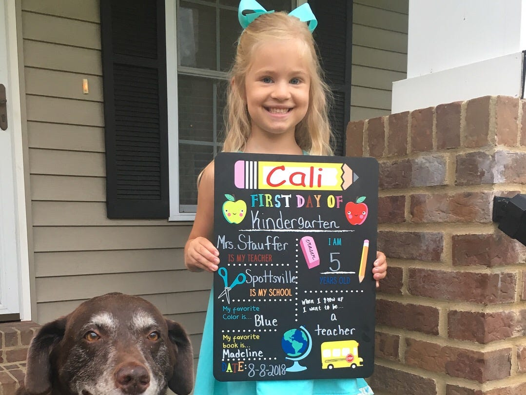 Cali Shults, kindergarten