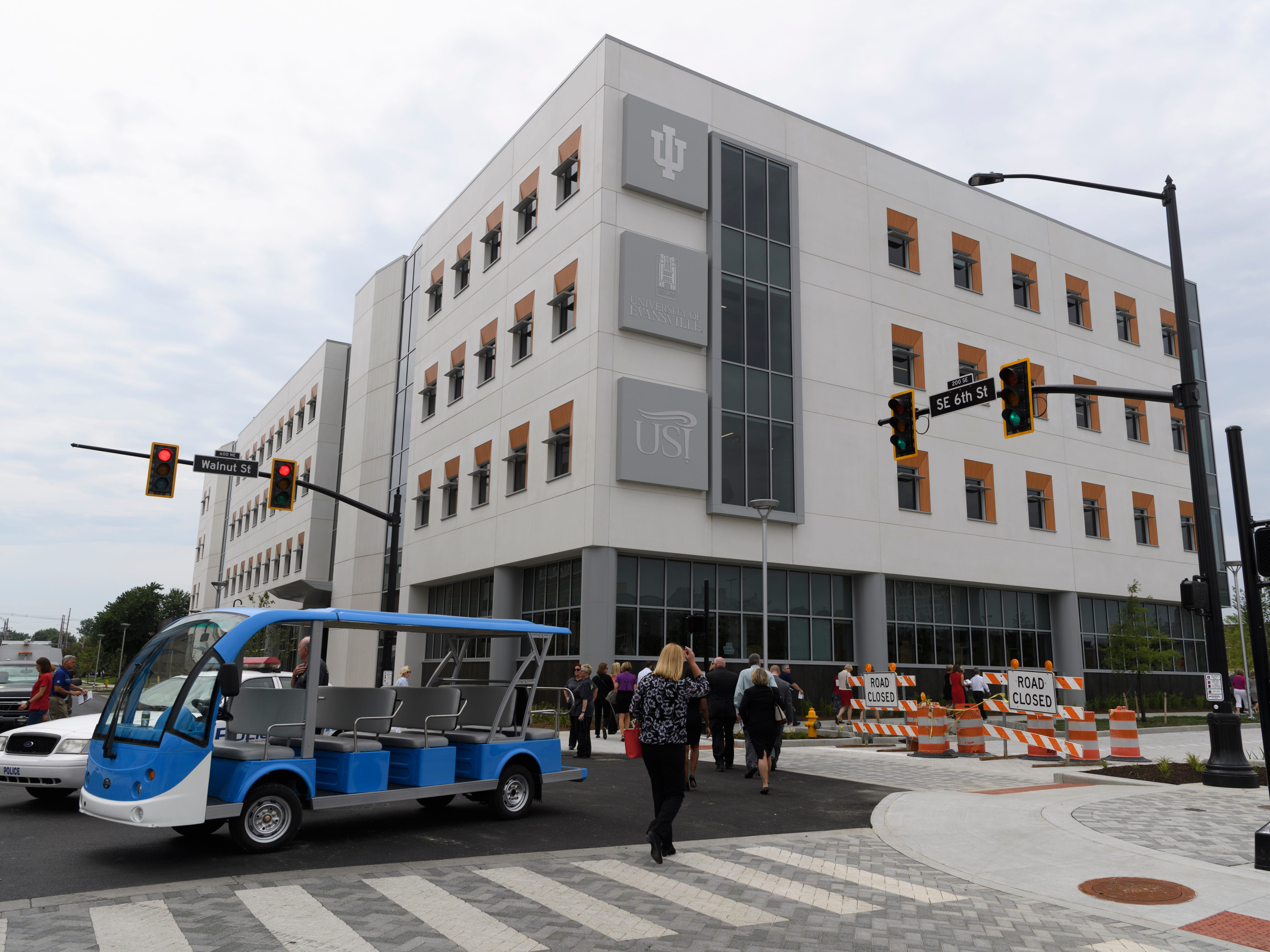 The Stone Family Center for Health Sciences offers a multi-institutional partnership between Indiana University's School of Medicine, UE, the University of Southern Indiana in Downtown Evansville.