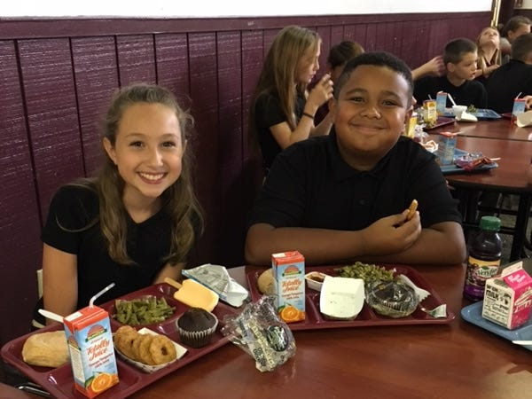 Grace Bumgardner and E.J. Williams, 6th grade