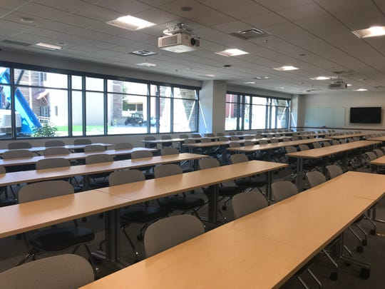 Construction is set up wrap up next week at the Michael Smith Natural Resources Building in the Warner College of Natural Resources at Colorado State University. Updates included more open, dynamic classrooms.