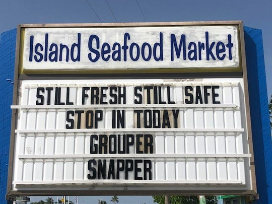 Island Seafood Market on Matlacha catches its grouper and snapper 80 to 100 miles offshore in the Gulf, where the waters are clear and healthy.